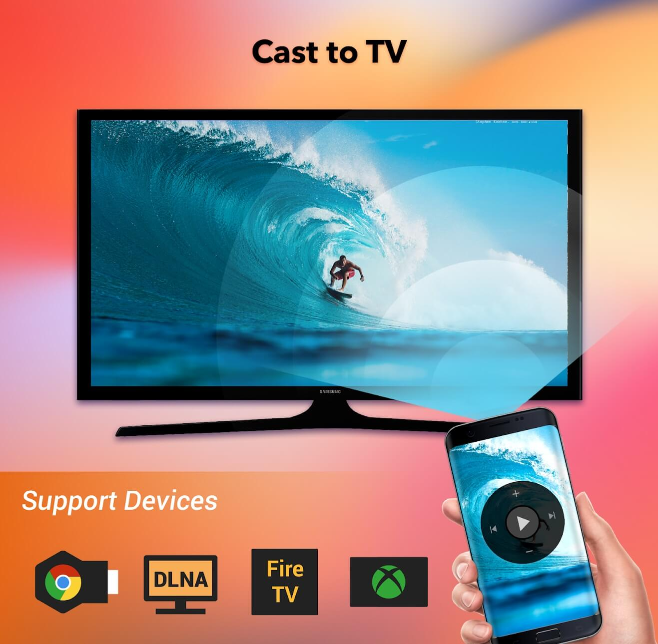 Las mejores aplicaciones de Android Mirror Cast - TV-Chromecast-Roku-stream-phone