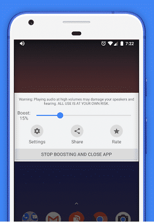 Speaker Boost: Amplificador de volumen y amplificador de sonido Interfaz de usuario 3D