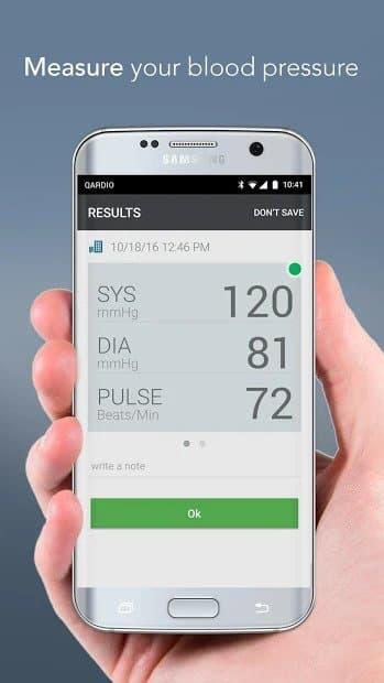 Qardio Heart Health (aplicación de medición de la presión arterial)